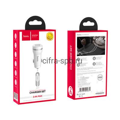 АЗУ 2USB Z27 2.4A + кабель Type-C белый Hoco купить оптом   cifra-spb.ru