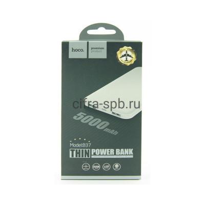 Power Bank 5000mAh B37 белый Hoco купить оптом   cifra-spb.ru