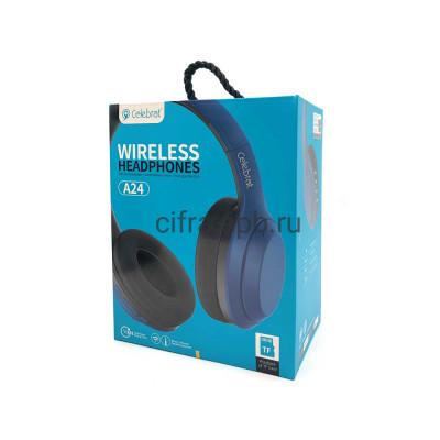 Беспроводные наушники A24 полноразмерные c микрофоном синий Hoco купить оптом | cifra-spb.ru