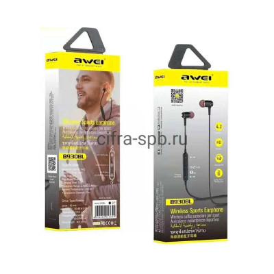 Беспроводные наушники B930BL с микрофоном черный Awei купить оптом | cifra-spb.ru