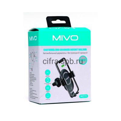 Держатель для телефона MZ15 10W в решетку с беспроводной зарядкой черный Mivo купить оптом | cifra-spb.ru