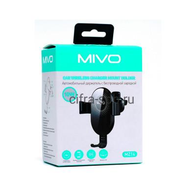 Держатель для телефона MZ14 10W в решетку с беспроводной зарядкой черный Mivo купить оптом | cifra-spb.ru