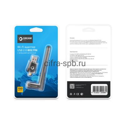 WiFi адаптер DRM-WA2-01 150MB/S черный Dream купить оптом | cifra-spb.ru