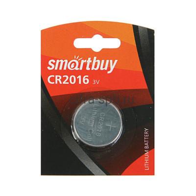 Батарейка CR2016 Smartbuy 1шт купить оптом   cifra-spb.ru