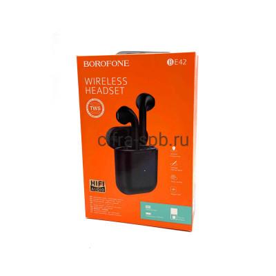 Беспроводные наушники BE42 с микрофоном черный (с анимацией) Borofone купить оптом   cifra-spb.ru