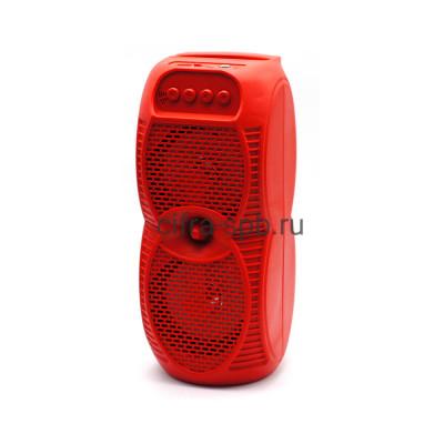 Беспроводная колонка ZQS-4231 + проводной микрофон красный купить оптом | cifra-spb.ru