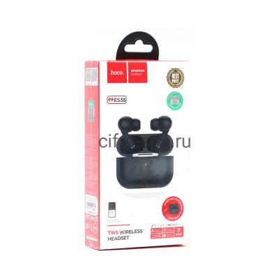 Беспроводные наушники ES38 Pro с микрофоном черный Hoco купить оптом | cifra-spb.ru