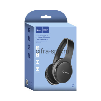 Беспроводные наушники DRM-LS210-01 полноразмерные с микрофоном черный Dream купить оптом | cifra-spb.ru