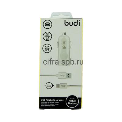 АЗУ USB + кабель Lightning 1.2M BUDI купить оптом | cifra-spb.ru