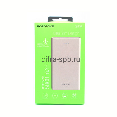 Power Bank 5000mAh BT2B 2USB белый Borofone купить оптом | cifra-spb.ru
