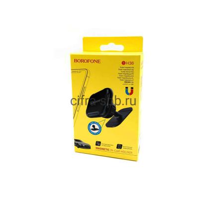 Держатель для телефона BH36 магнитный черный Borofone купить оптом   cifra-spb.ru