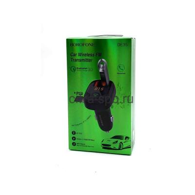 FM-Модулятор DE35 2USB QC3.0 черный Borofone купить оптом | cifra-spb.ru