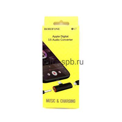 Аудио конвертор BV7 Lightning + 3.5 Jack черный Borofone купить оптом   cifra-spb.ru