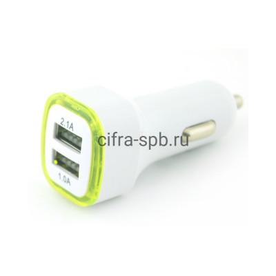 АЗУ 2USB 3.1A квадрат+свет купить оптом | cifra-spb.ru