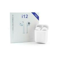 Беспроводные наушники i12-TWS сенсорные c микрофоном белый