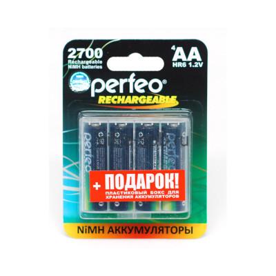 Аккумуляторные батарейки R6 1.2V 2700 mAh 4шт. Perfeo (Цена за ед.) купить оптом | cifra-spb.ru
