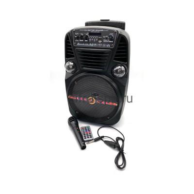 Беспроводная колонка CH-830 + проводной микрофон + пульт черный купить оптом   cifra-spb.ru