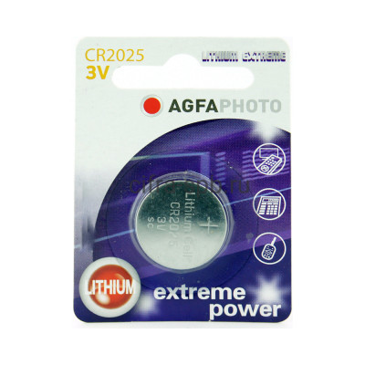 Батарейка CR2025 AGFAPHOTO 1шт. купить оптом | cifra-spb.ru