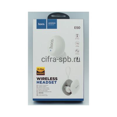 Беспроводная гарнитура E50 белый Hoco купить оптом | cifra-spb.ru