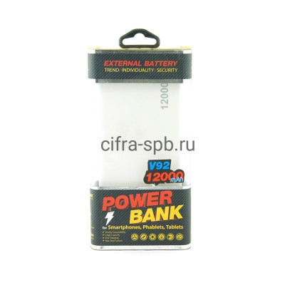 Power Bank 12000mAh V92 купить оптом   cifra-spb.ru