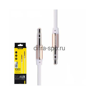 AUX RL-L100 бело-золотой Remax 1m купить оптом | cifra-spb.ru