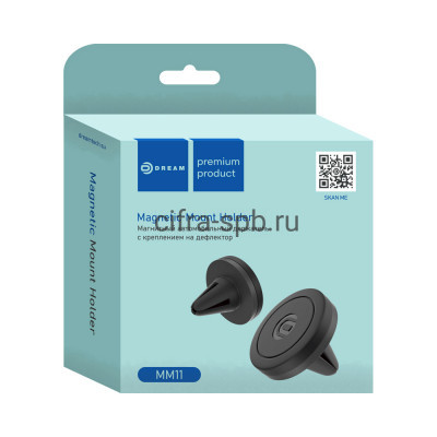 Держатель для телефона DRM-MM11-01 магнитный черный Dream купить оптом | cifra-spb.ru