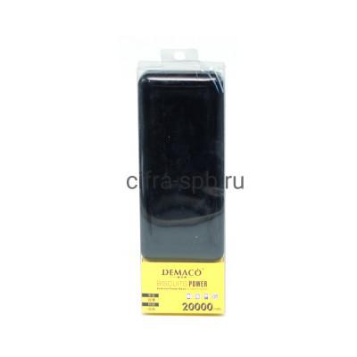 Power Bank 20000mAh DKK-005 2USB черный Demaco купить оптом   cifra-spb.ru