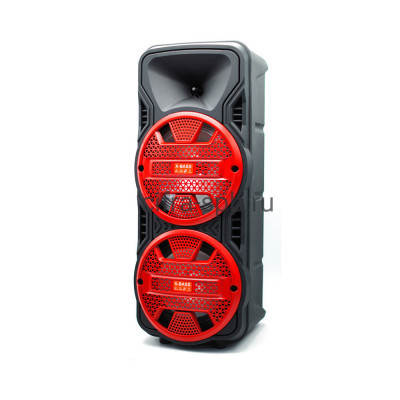 Беспроводная колонка DG-1089 + проводной микрофон + пульт черно-красный купить оптом | cifra-spb.ru