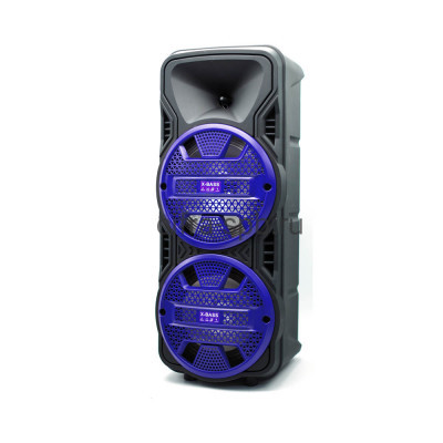 Беспроводная колонка DG-1089 + проводной микрофон + пульт черно-синий купить оптом   cifra-spb.ru