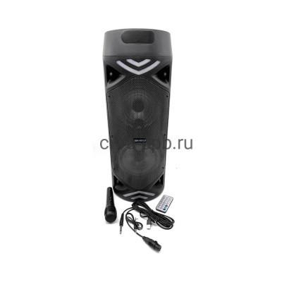 Беспроводная колонка JBK-6515S + проводной микрофон + пульт черный купить оптом   cifra-spb.ru