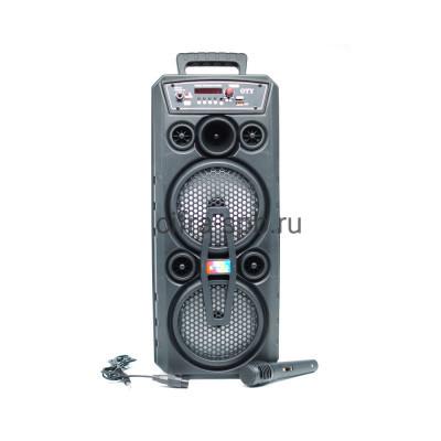 Беспроводная колонка OTY-6613 + проводной микрофоном + пульт черный купить оптом | cifra-spb.ru
