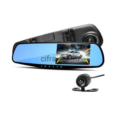 Видеорегистратор DVR-180 в зеркале + камера заднего вида купить оптом   cifra-spb.ru