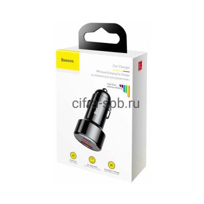 АЗУ USB+Type-C CCMLC20C-01 QC3.0 45W черный Baseus купить оптом | cifra-spb.ru