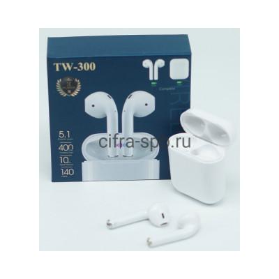 Беспроводные наушники TW-300 c микрофоном белый купить оптом | cifra-spb.ru