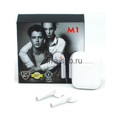 Беспроводные наушники M1 c микрофоном белый купить оптом | cifra-spb.ru