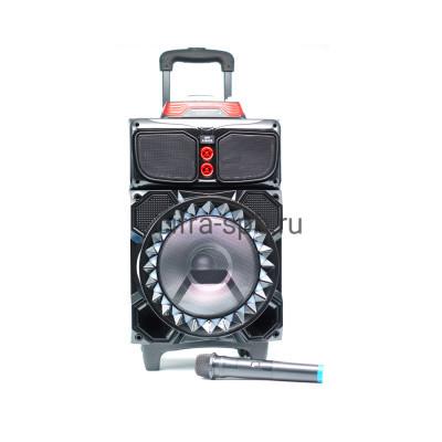 Беспроводная колонка RX-1060 + беспроводной микрофон черный купить оптом   cifra-spb.ru