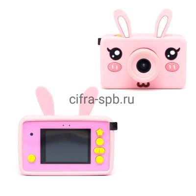 Детский фотоаппарат розовый + чехол розовый Зайчик купить оптом | cifra-spb.ru