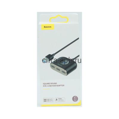 USB Хаб на 4USB CAHUB-AY01 черный Baseus купить оптом | cifra-spb.ru