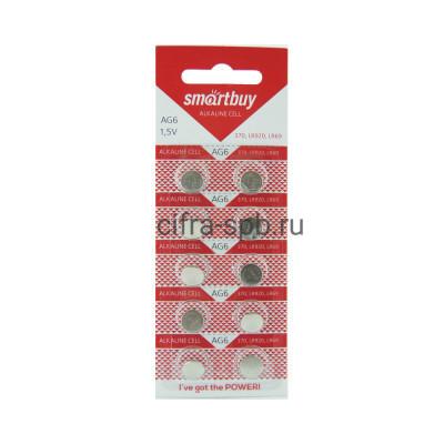 Батарейки AG6 Smartbuy10шт (цена за ед.) купить оптом | cifra-spb.ru