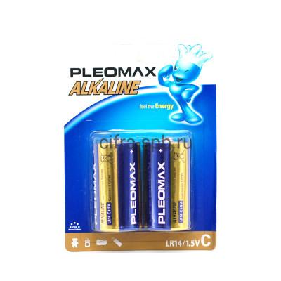 Батарейка LR14 Pleomax 2шт. (цена за ед.) купить оптом | cifra-spb.ru