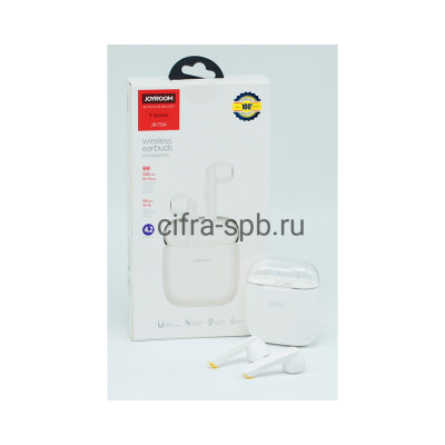 Беспроводные наушники JR-T04 с микрофоном белый Joyroom купить оптом | cifra-spb.ru