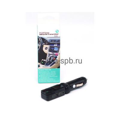 FM-модулятор S16 2USB 2.1A Bluetooth + AUX  черный купить оптом | cifra-spb.ru