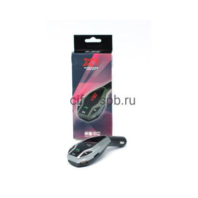FM-модулятор X7 2USB 2.1A Bluetooth + AUX черный купить оптом   cifra-spb.ru