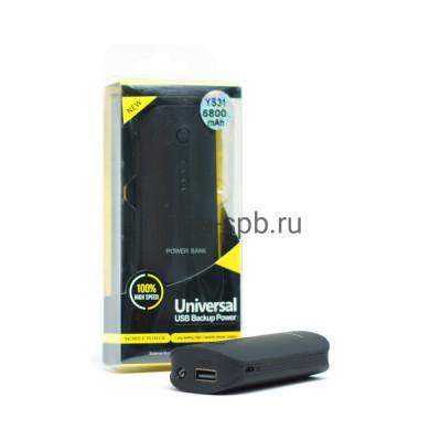 Power Bank 6800mAh 3USB YS31 черный купить оптом | cifra-spb.ru
