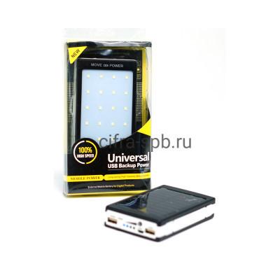 Power Bank 25000 mAh + солнечная батарея черно-белый купить оптом | cifra-spb.ru