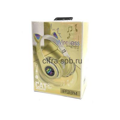 Беспроводные наушники P33M с микрофоном Светящиеся ушки полноразмерные желтый купить оптом | cifra-spb.ru