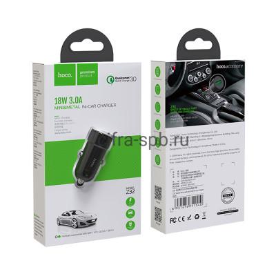 АЗУ USB Z32 3A QC3.0 18W черный Hoco купить оптом | cifra-spb.ru