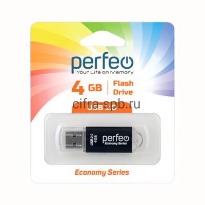 USB накопитель 4GB E01 Black economy series Perfeo купить оптом   cifra-spb.ru