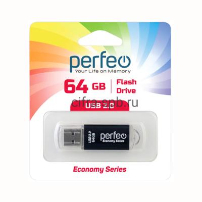USB накопитель 64GB E01 Black economy series Perfeo купить оптом | cifra-spb.ru