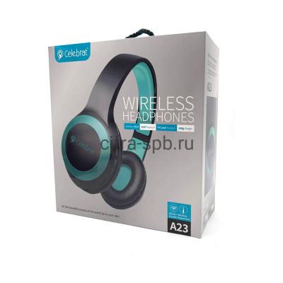 Беспроводные наушники A23 полноразмерные c микрофоном черно-голубой Hoco купить оптом | cifra-spb.ru